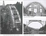 Most - Bechyňská duha, stavba mostu - bednění