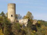 Údolím Lužnice do Dobronic - zřícenina hradu v Dobronicích